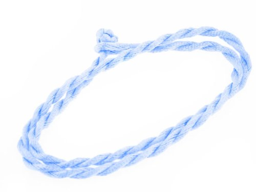 Sky Blue Synthetic Faux Silk Rope Cord 17