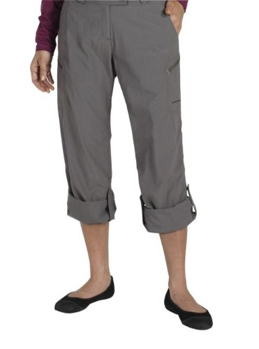 ExOfficio Women's Nomad Roll-Up Pant,Slate,12