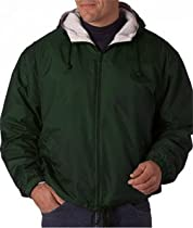 ULTRACLUB 8915 UltraClub® Adult Fleece-Lined Hooded Jacket 8915-simple