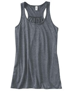 Bella Ladies Maxine Flowy Tank, dark grey heather, Large