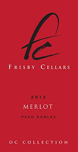 Frisby Cellars 2012 Merlot, Paso Robles. Gold Medal Winner 2015 San Francisco Chronicle Wine Competition