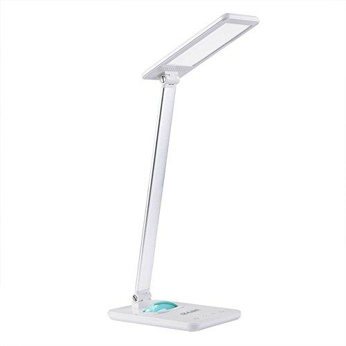 8W LED Schreibtischlampe Tageslicht Augenschutz Leselampe,7 Helligkeitsstufen Dimmbar, Touchfeldbedienung mit Farbwechsel Nachtlicht