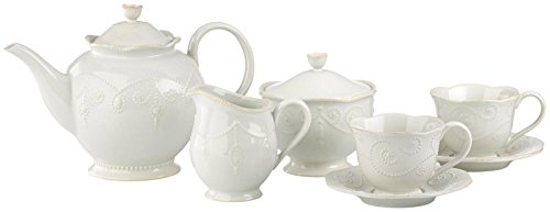 French Perle White 9-Piece Tea Set By Lenox