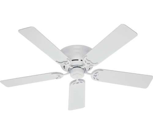 Hunter 20803 52-Inch White Low Profile III Fan