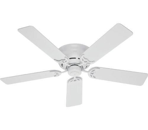 Hunter 20803 52-Inch White Low Profile III Fan