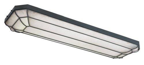 World Imports Lighting 7202-42 Fluorescent Rennes Linear Flush Mount Fixture, Rust