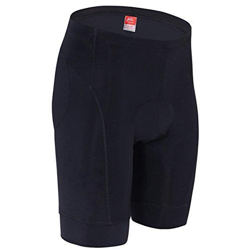 """ALLY Pantaloncini ciclismo bici Pantaloni corti Gel 3D ha riempito da Uomo con Funzione traspirante Asciugatura rapida (Black/Black, M 30""""-32"""")"""