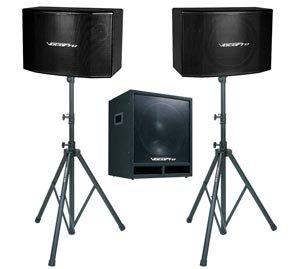 Vocopro Ssp600 600W 15-Inch Vocal Speaker With 15-Inch Subwoofer