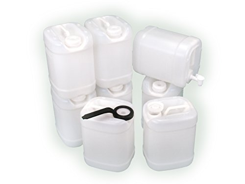 2.5 Gallon Samson Stacker 8 Pack (20 gallons), Natural, Emergency Water Storage - with Cap Wrench and Spigot (Jugs With Spigots compare prices)