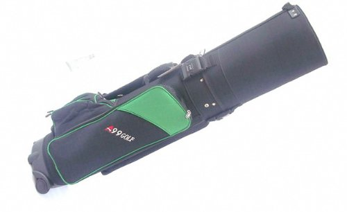 A99 Golf Travel Mate I Cover Hard Case Shell Hybrid Bag, Black/Green