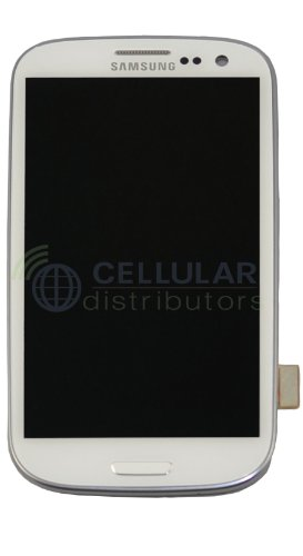 Generic Original At&T Galaxy S3 I747 Lcd & Touch Screen Digitizer White Genuine Samsung Sgh-I747 Galaxy S3 Replacement Top Glass Touch Panel, Amoled Oled Display Screen, Lower Front Navigation Keypad And Lcd Back Plate