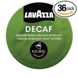 Lavazza Espresso Decaf For Keurig Rivo System