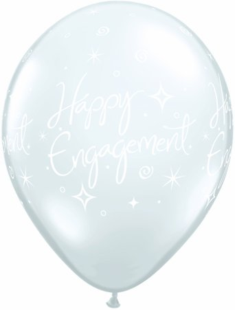 Happy Engagement Elegant Sparkles Diamond Clear