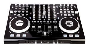 Epsilon Quad-Mix Powerful 4-Deck Professional MIDI/USB DJ Controller by Epsilon