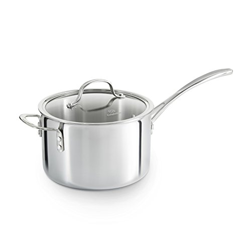 Calphalon Triply Stainless Steel 4-1/2-Quart Sauce Pan with Cover