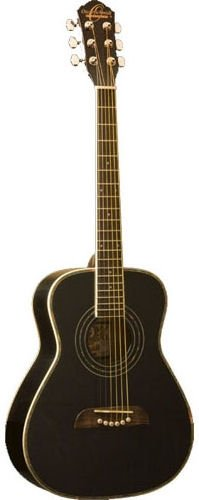 Oscar Schmidt OGHSBLH 1/2 Size Dreadnought Acoustic Guitar (Left Handed, High Gloss)