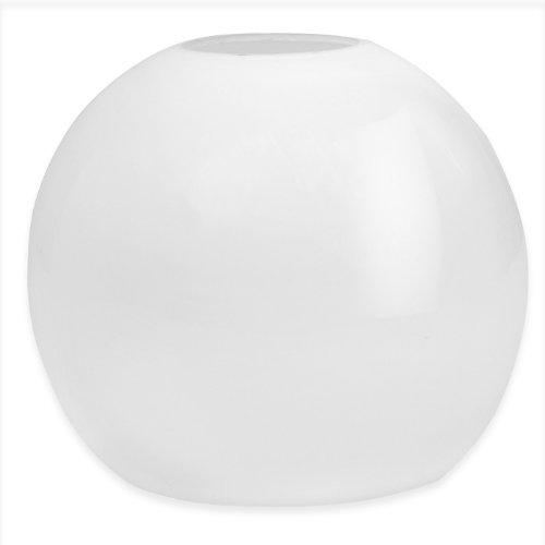 Ricambio portalume in opale bianco latte F 42 Cm 18x D 10