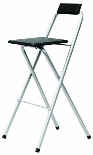 Premier Housewares Folding Bar Stool, Black