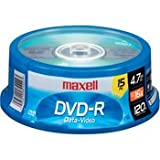 Maxell 15-Pack DVDR SPN 16X Write Once DVDR Spindle 638006