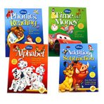 Disney Adventures in Learning - 4 Workbook Set (Time & Money, The Alphabet, Phonics & Reading and Addition & Subtraction)