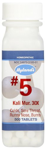 Hylands No.5 Kali Mur. 30x - 500 Tablets pack of - 1