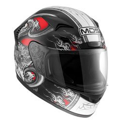 AGV Helmets 7042A2D0_001_L New Spinter MDS E2205 Multi, Multicolore (Creature Rouge), L