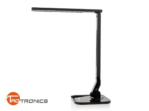 TaoTronics® Elune TT-DL01(Piano Black) Versatile Natural Light LED Desk Lamp (4 Lighting Modes- Reading, Studying, Relaxation & Bedtime, 5- Level Brightness Control for each mode, Touch Sensitive Control Panel, 1-Hour Auto Timer, 5V/1A USB Charging Port)