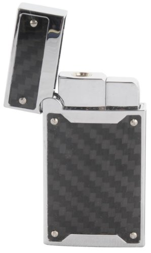 Carbon Fibre effect Turbo Gas Lighter - Personalised Free of Charge