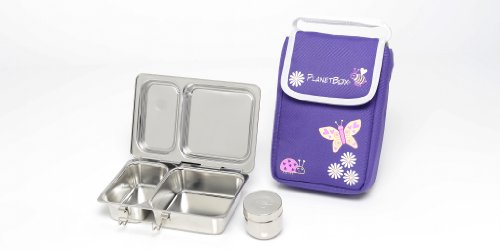 PlanetBox Shuttle Lunchbox - Complete Set (Purple Butterfly)