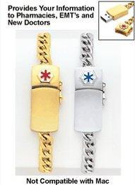 MD Alert Bracelet, Color Silver