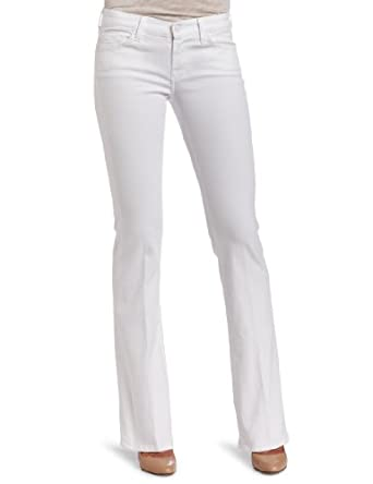 7 For All Mankind Women's Classic Bootcut Jean in Clean White, Clean White, 32