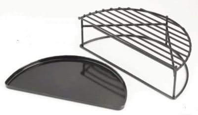 Big Green Egg Half Moon Raised Grid for X-Large Egg HMRGXL (Big Green Egg Drip Pan compare prices)