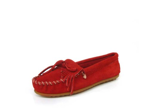 Image of MNN SUEDE KILTY MOC CHERRY RED (B007MAPARE)