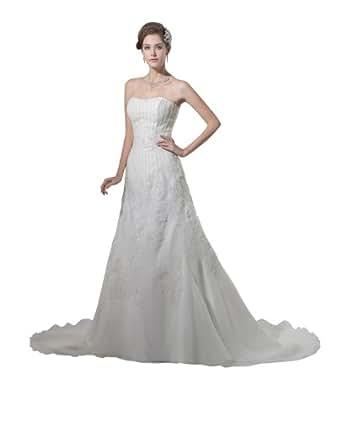 Herafa Wedding Dress Elegant NOw35197 Amazon Fashion