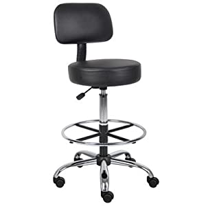 Boss Caressoft Medical/Drafting Stool with Cushion