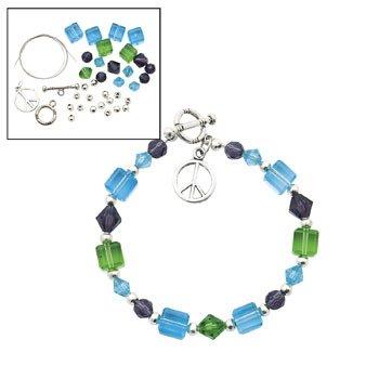 Peace Beaded Bracelet Kit - Beading Supplies & Bead Kits