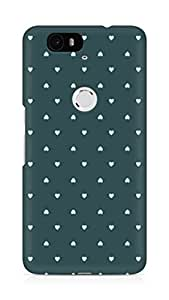 Amez designer printed 3d premium high quality back case cover for Huawei Nexus 6P (herats )