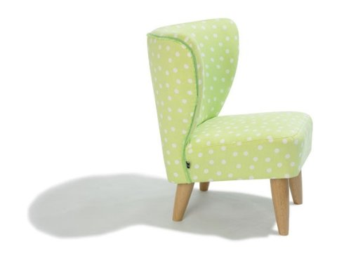 Dreams4Home Kindersessel 'Holly', 50x50x54 cm, Grün mit Punkten, Sessel