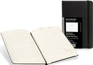 Moleskine 2014 Professional Planner 12 Month Weekly Vertical Dashboard Black Hard Cover Large