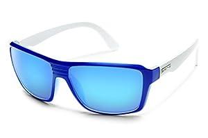 Suncloud Colfax Polarized Sunglasses, Blue/White Frame, Blue Mirror Lens