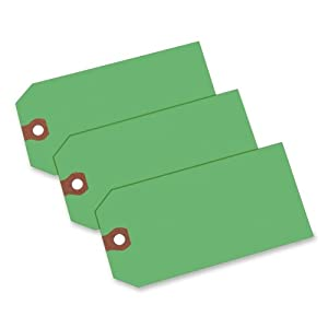 Avery Shipping Tags, Unstrung, 4.75 x 2.375-Inches, Green, Box of 1000  (12365)