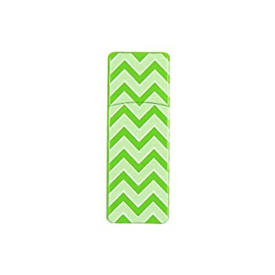 EMTEC Fashion Swivel 8 GB USB 2.0 Flash Drive, Green Zigzag