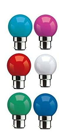 Syska Multi Color LED Bulb Pack of 6 (0.5 Watt) By Amazon @ Rs.299