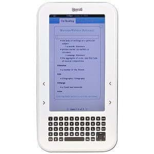 "7"" Sharper Image Literati Wireless 256MB Color eBook Reader w/SD Card Slot & Case"