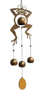 Jade Garden 389836 Frog Wind Chime with Bells