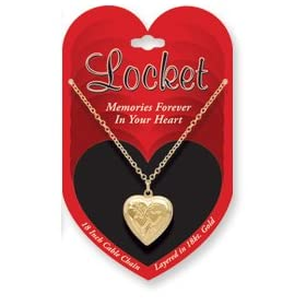 Love Locket Pendant & Chain! Silver & Gold Styles! (Sold Individually): Jewelry