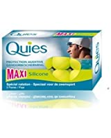 QUIES - protection auditive Maxi silicone special natation - boite de 3 paires