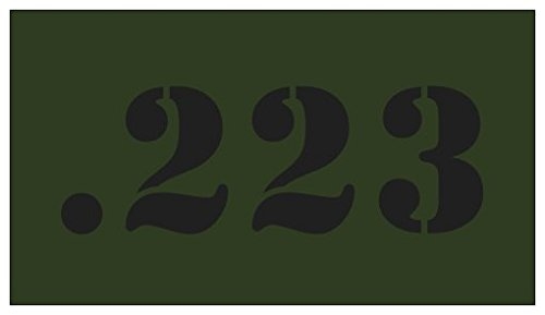5pcs .223 OD Green with Black Lettering for Military Style Steel Ammo Can Magnet (Ammo Cans Military compare prices)
