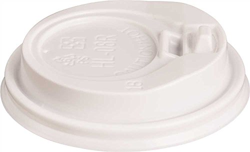 Renown GIDDS2-2472198 1000 Per Case 90mm Hot Cup Lids, 10 to 20 oz, White