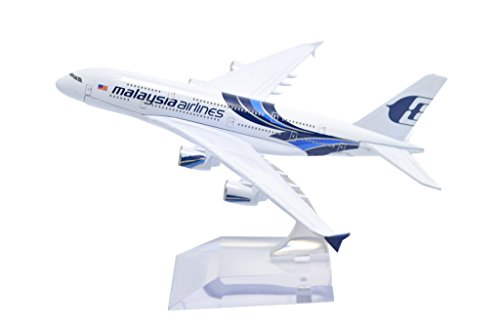 TANG DYNASTY(TM) 1:400 16cm Airbus A380 NEW Painting Malaysia Airlines Metal Airplane Model Plane Toy Plane Model (Airbus A380 1 400 compare prices)